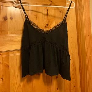 NWT Aeropostale Lace Detail Flowy Crop Top